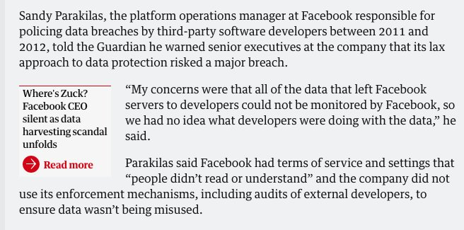 Honestly, this is way way wayyyyy bigger than the Cambridge Analytica stuff. Facebook faces a legitimate crisis here: https://t.co/4L5Qq8oeZj