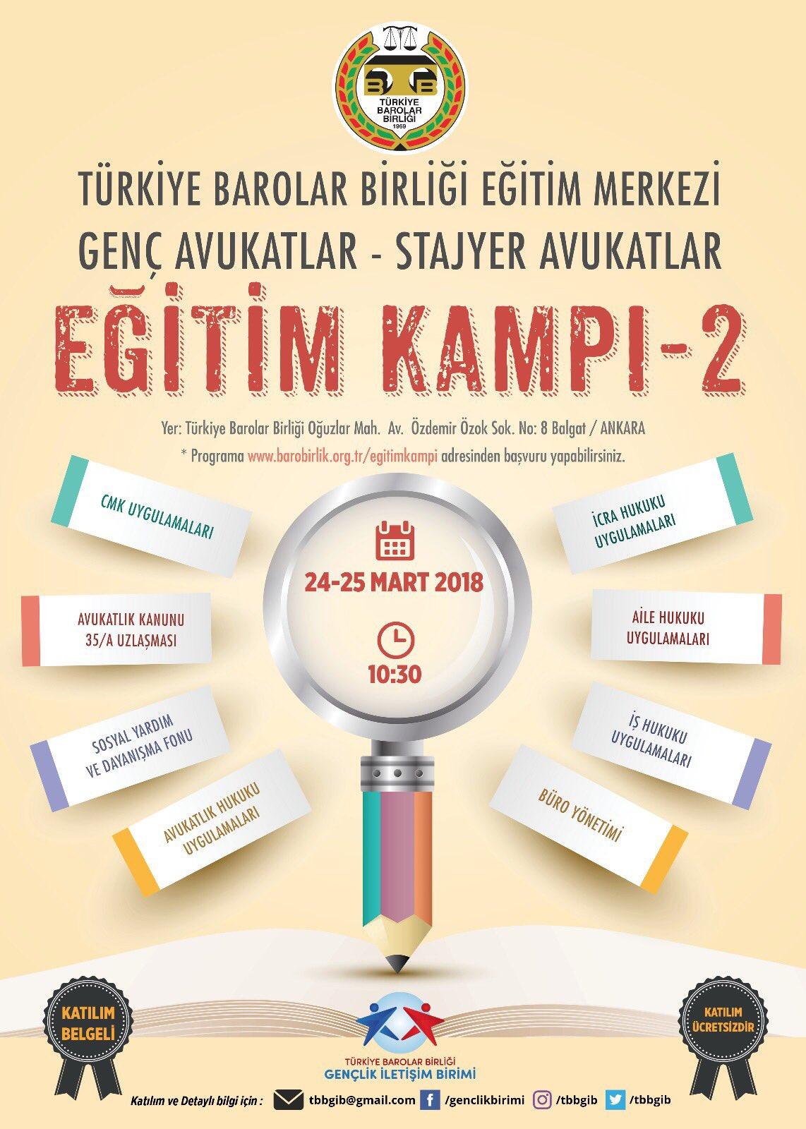 Türkiye Barolar Birliği 2. Eğitim Kampı