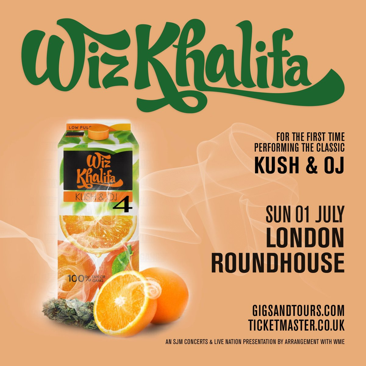 Kush & OJ live💨🍊July 1st at London Roundhouse. https://t.co/mvththdC6n