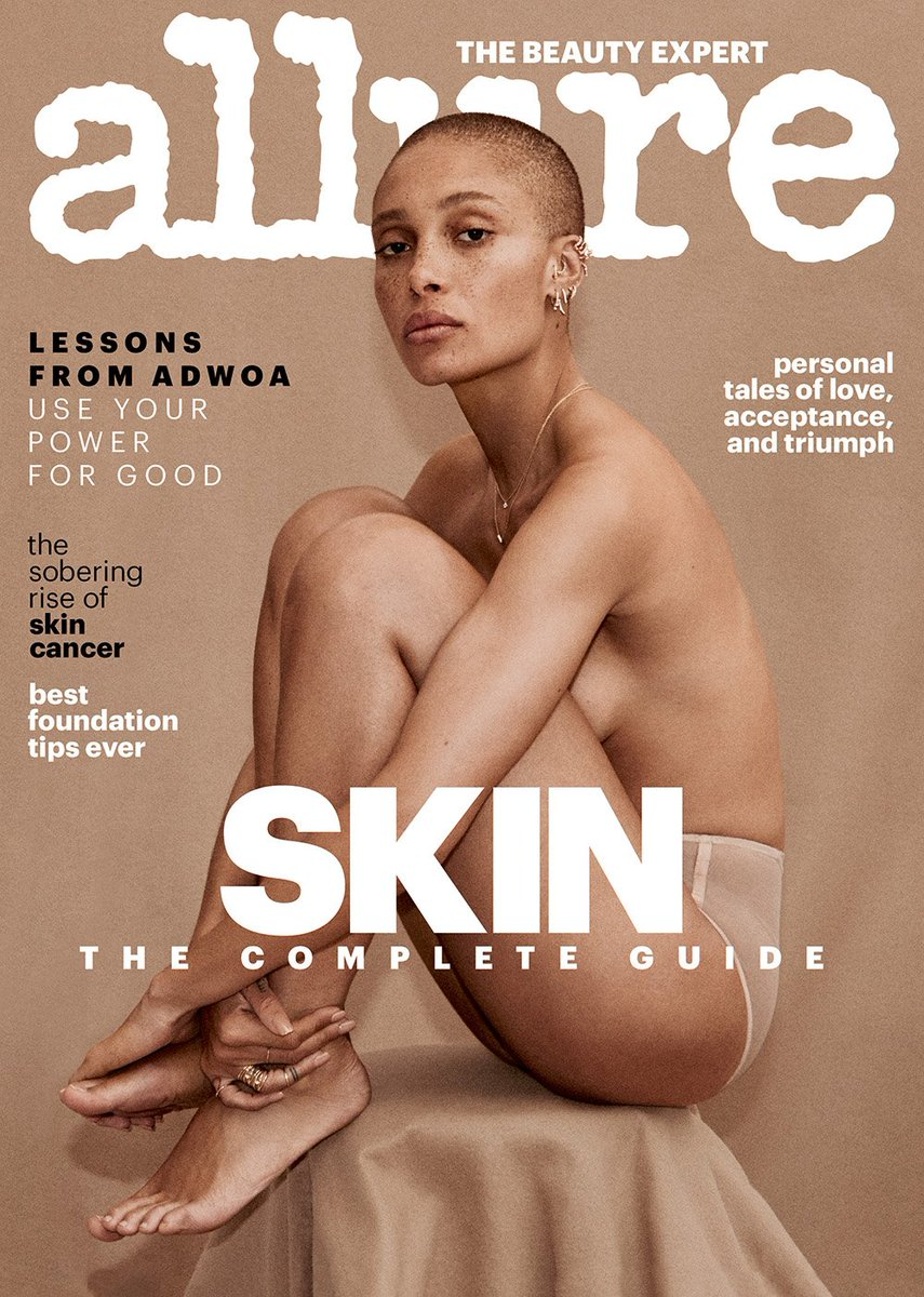 More than just our cover star, Adwoa Aboah is an activist, model, and @gurlstalk co-founder. In our April Skin Issue, she shares her thoughts on mental health and socioeconomic barriers, and the goal of her nonprofit organization. Read the full interview: in.allure.com/0MmNatq