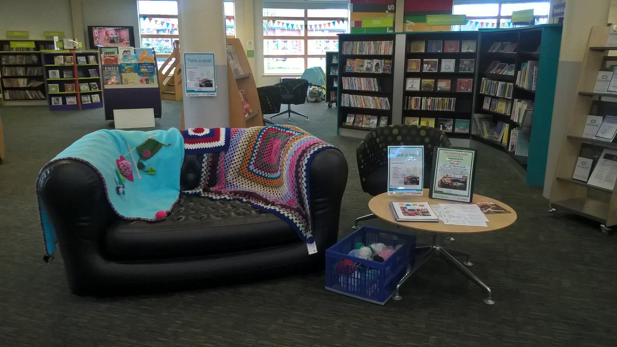 ... The Library. The Sofa Can Be Used For Reading, Chatting, Making  Friends, Storytelling, Knitting, Crocheting.... No Experience Or Equipment  Is Necessary, ...