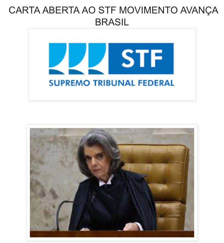 Avança Brasil https://t.co/AipfXLuPSg: CARTA ABERTA AO STF MOVIMENTO AVANÇA BRASIL: https://t.co/DXuVPUqgfQ