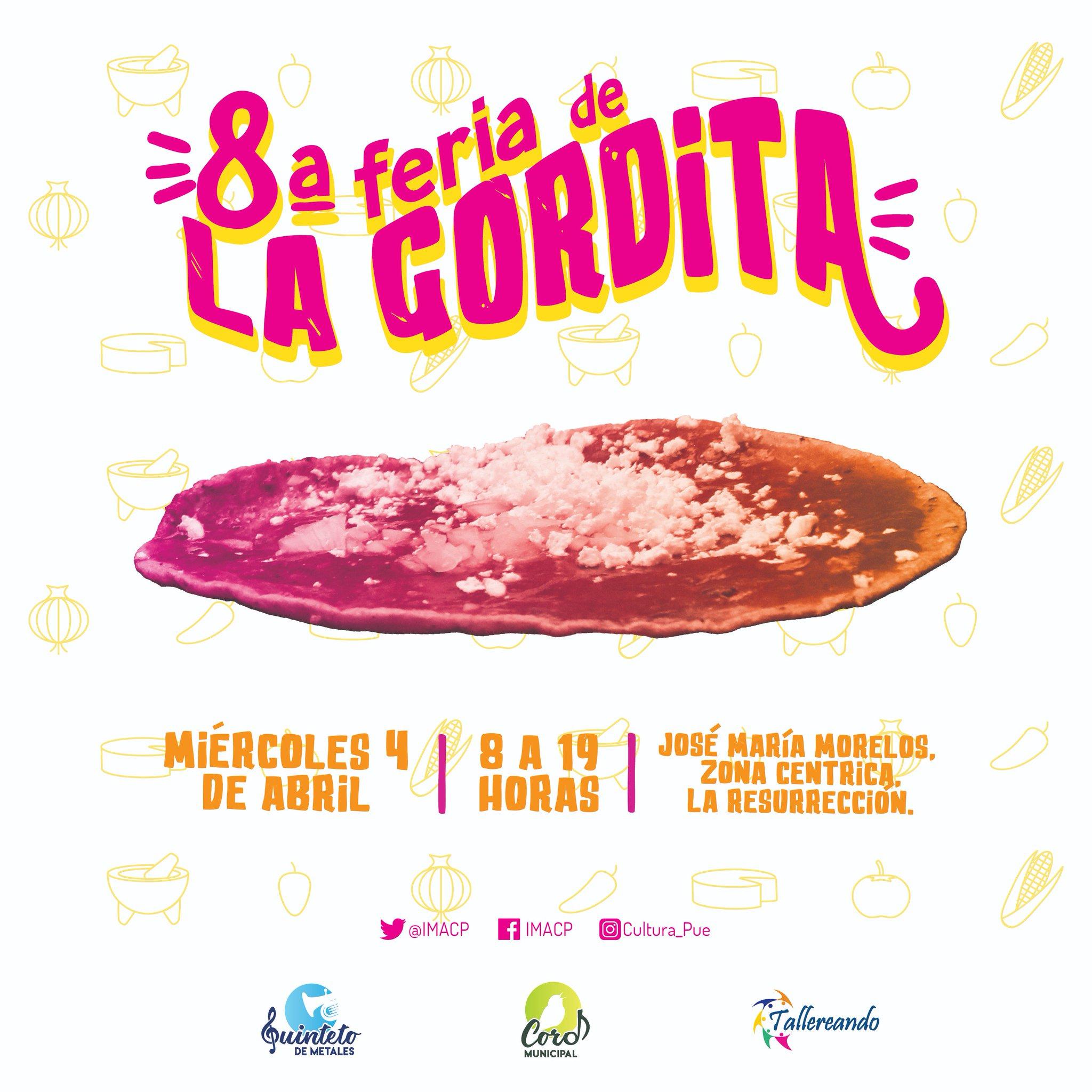 Cartel oficial de la Feria de la Gordita 2018