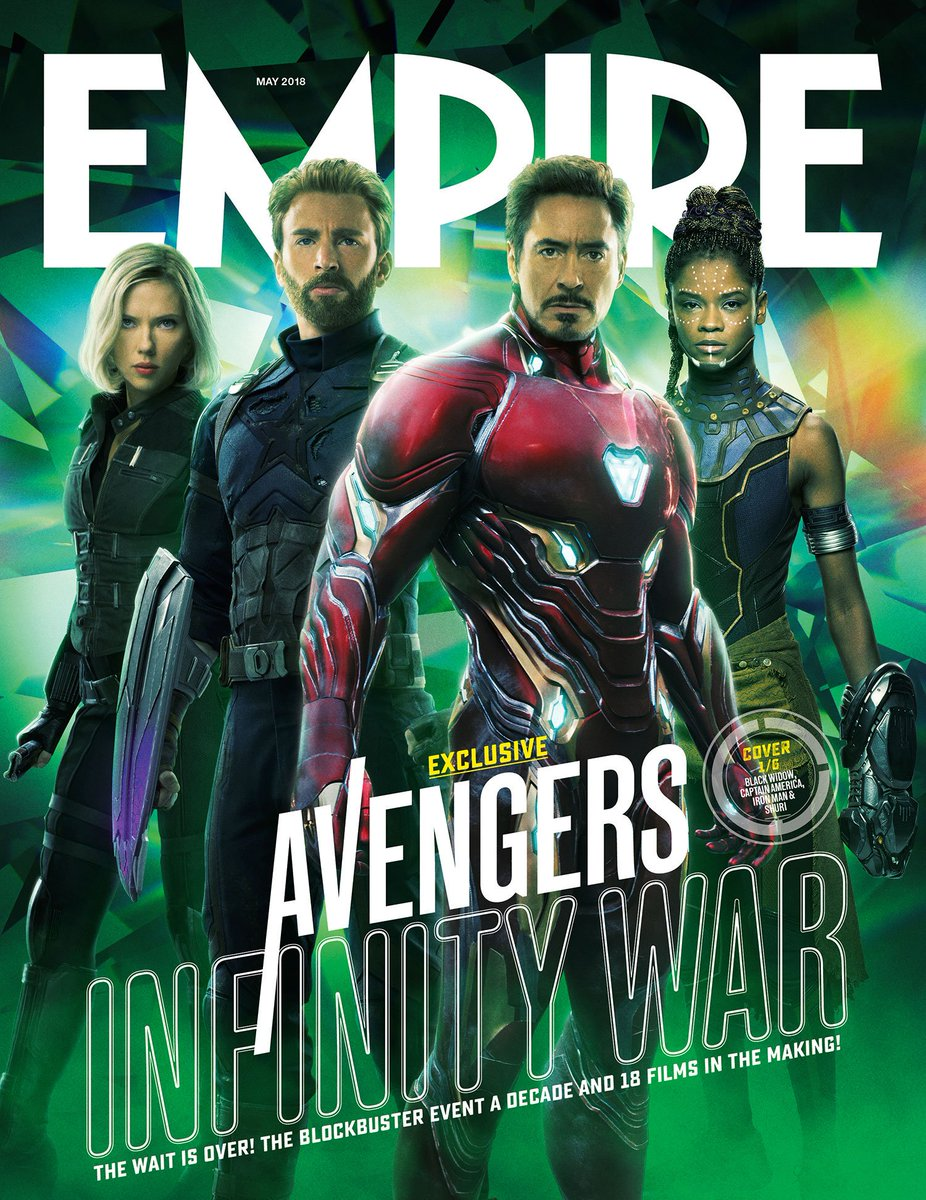 Here's a look at six new @empiremagazine covers for Marvel Studios' @Avengers: #InfinityWar! Read more: https://t.co/6zESjhsVhR (1/2)