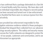 RT @FedEx: Our statement on the incidents in Texas...
