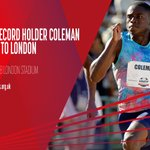 Image for the Tweet beginning: 📣 WORLD RECORD HOLDER COLEMAN