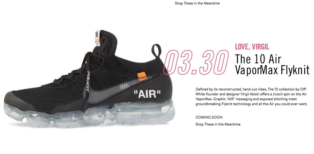 34a4762f57 ... ireland sole links on twitter off white x nike air vapormax flyknit 2.0  releasing via nordstrom