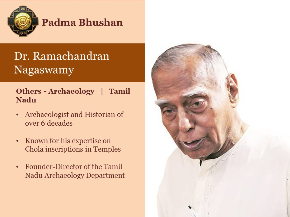 Image result for nagaswami getting Padma Vibhushan photo you tube