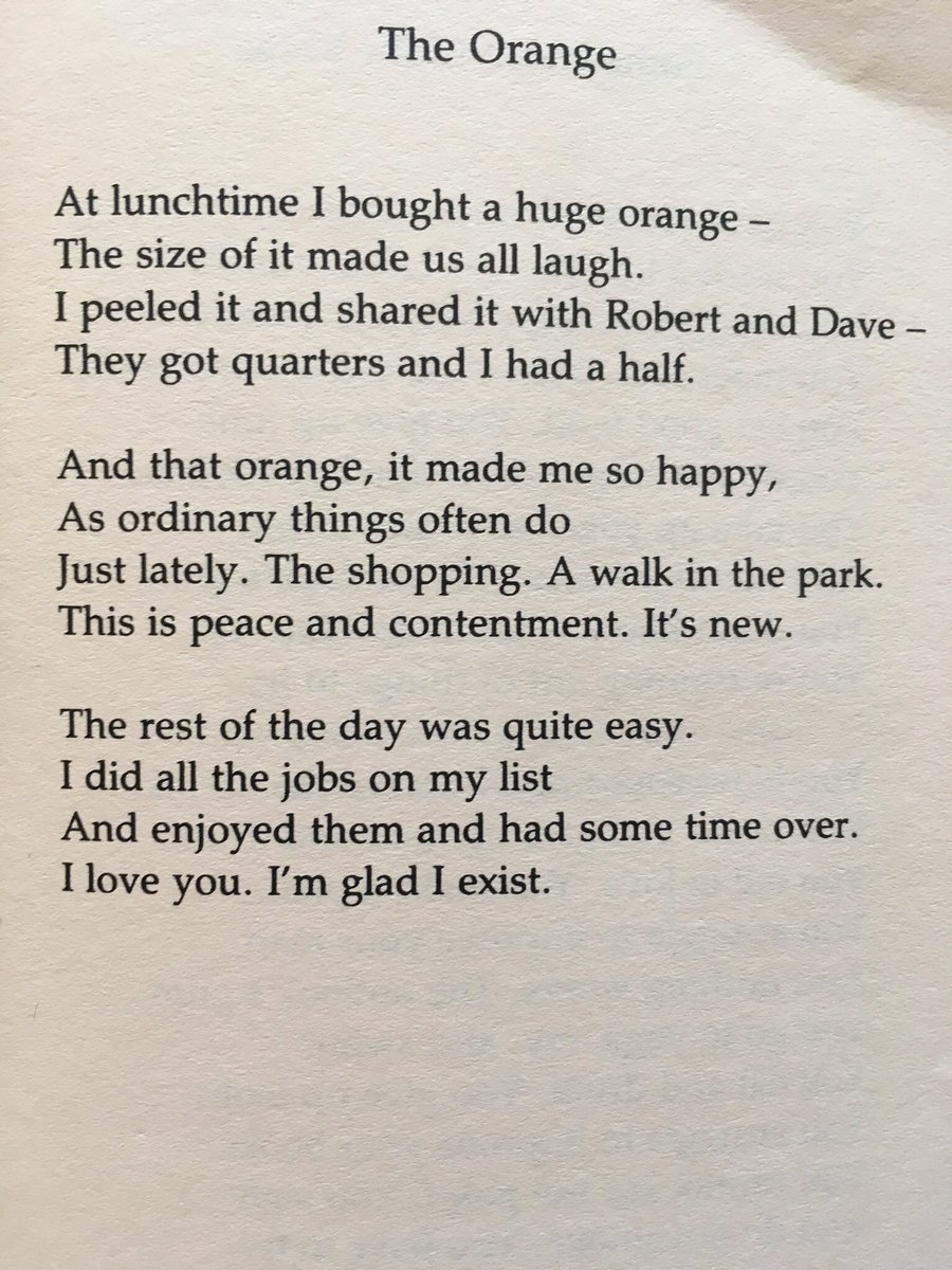 Wendy Cope orange