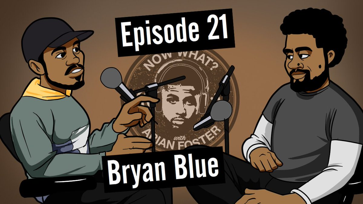 EP 21 out of @nowwhatpod now on youtube ▶️. w w artist @bluethegreat youtu.be/5YcQAz80NLE
