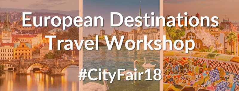Early bird rate for the European Destinations Travel Workshop #CityFair18 expire this week, register now! #networking #travel #tourism @ETOA