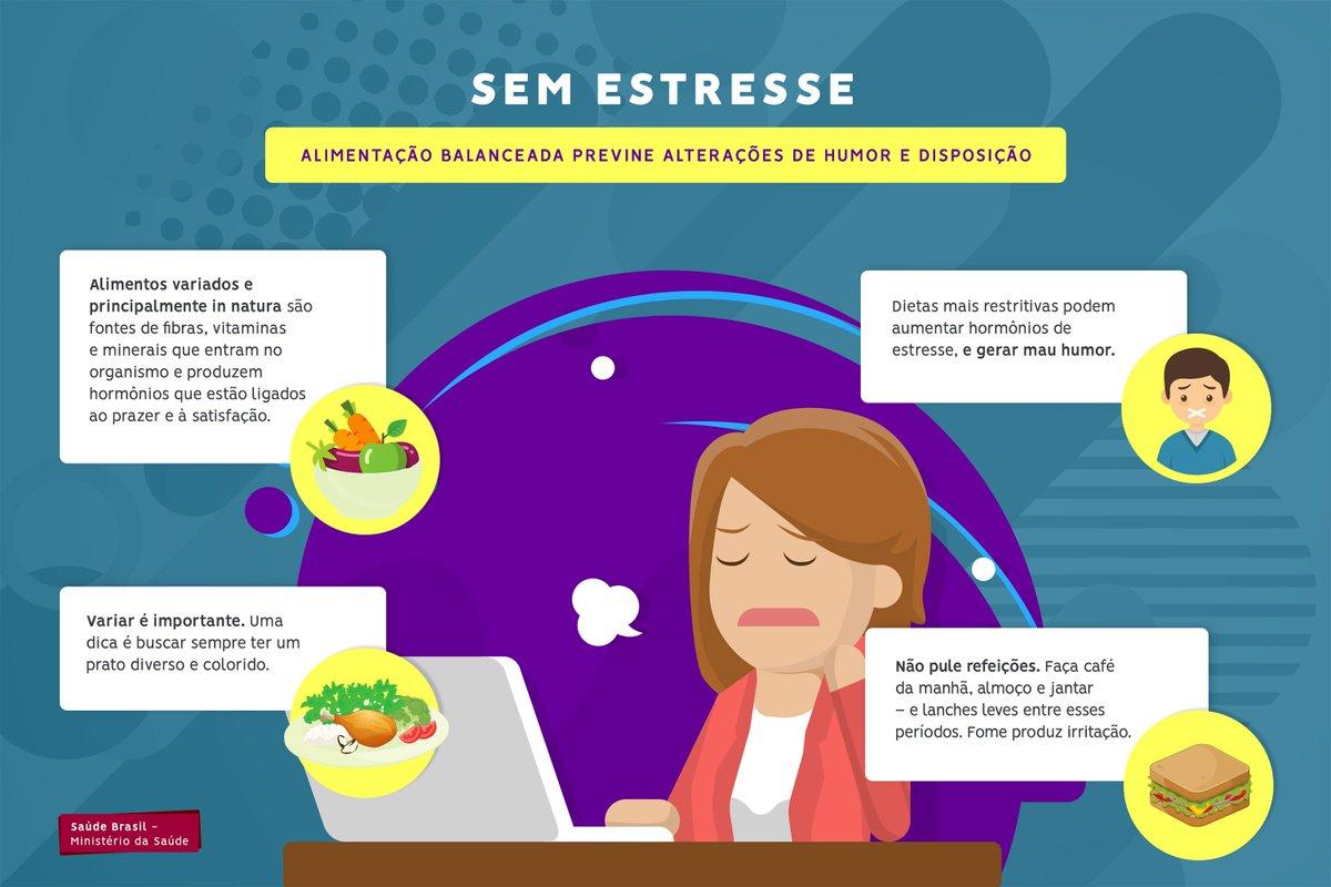 Alimentação saudável também ajuda a diminuir estresse. Confira! https://t.co/547eVIS78d