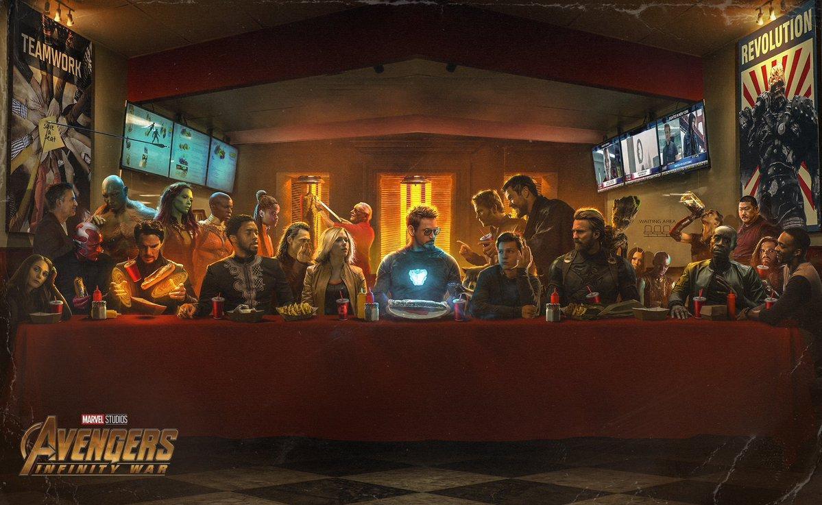 via @Newsweek BossLogic Imagines 'Avengers: Infinity War' Characters in 'The Last Supper' https://t.co/Zn7bothao8 https://t.co/tjTfC55ZFi