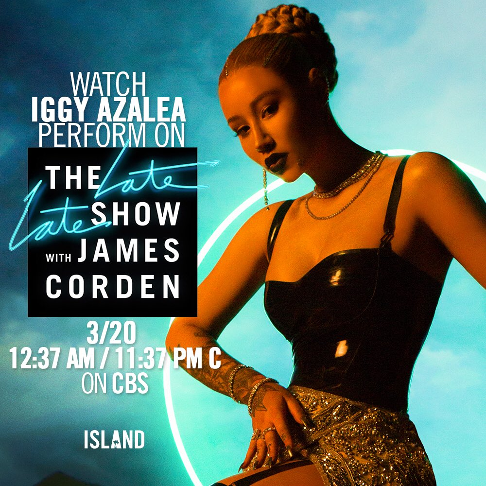 Don't forget to watch @iggyazalea on @la...