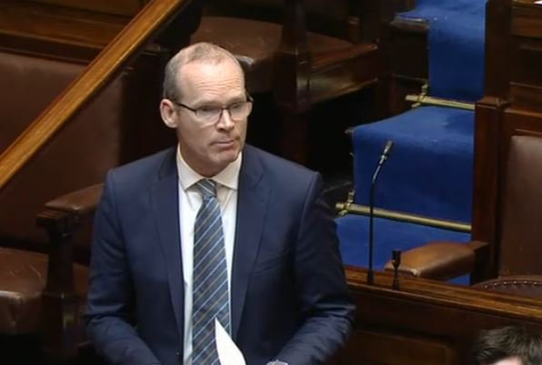Simon Coveney is currently defending the Strategic Communications Unit in the Dáil in the debate over Sinn Féin's private member's bill to dismantle the unit