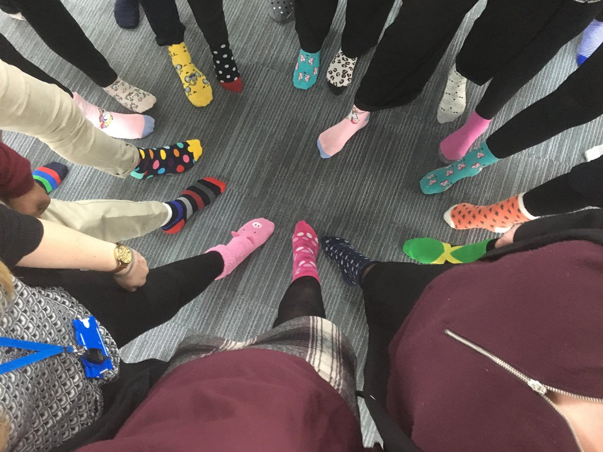 ILM supporting a fantastic charity well done guys #ILM #sockselfie #worlddownsyndromeday2018
