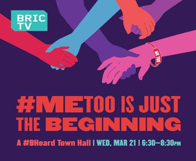 NYC folks! Catch us at our table at @BRICartsmedia's #BHeard Town Hall: #MeToo Is Just The Beginning tomorrow from 6:30pm-8:30pm. Featuring a powerhouse panel and special intro by @TaranaBurke. More info here 👇
