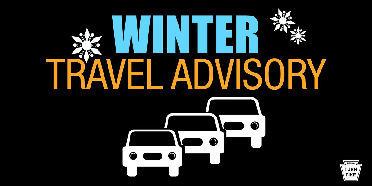 Heads up #OHTPK travelers: Due to the incoming winter storm, the  PA_Turnpike will impose a ban of certain types of trucks, RV and  trailers on the PA_Turnpike today starting at 8 p.m. Please see their advisory for more  details: https://t.co/G9g2ULt5eA