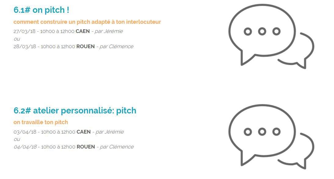 Pour un #pitch au top : mardi 27/03 à 10h à #Caen mercredi 28/03 à 10h à #Rouen #WorkshopsByNI https://t.co/kdLWkCviC6