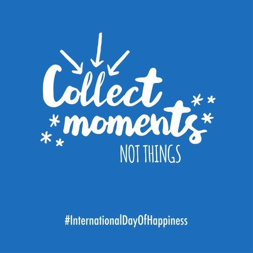 Our memories offer a lifetime of happiness. #InternationalDayOfHappiness