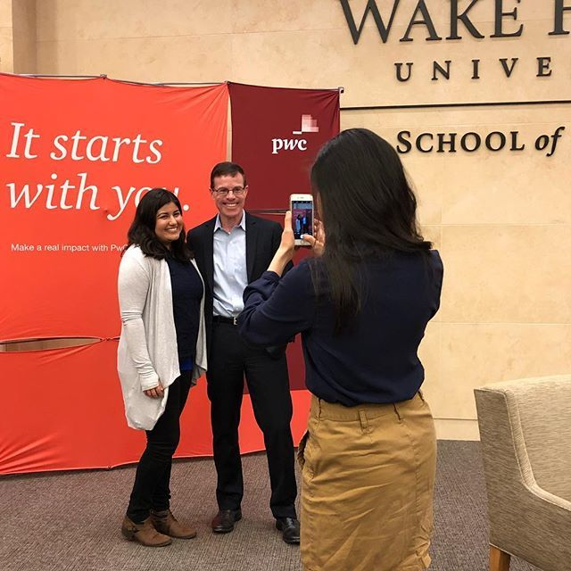 It's not every day that you get to meet the senior partner of the company you'll be joining after graduation! PwC's Tim Ryan spoke about investing in employees, trust-based leadership, and the need for companies to have one foot in today and one foot in … https://t.co/DxqlK4YvR7