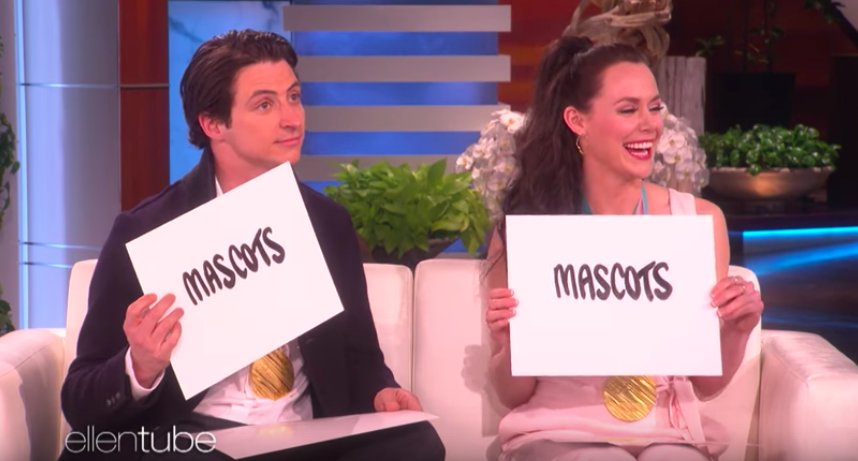 Tessa Virtue and Scott Moir are suspiciously good at The Dating Game on 'Ellen' https://t.co/uoaxahaYHP