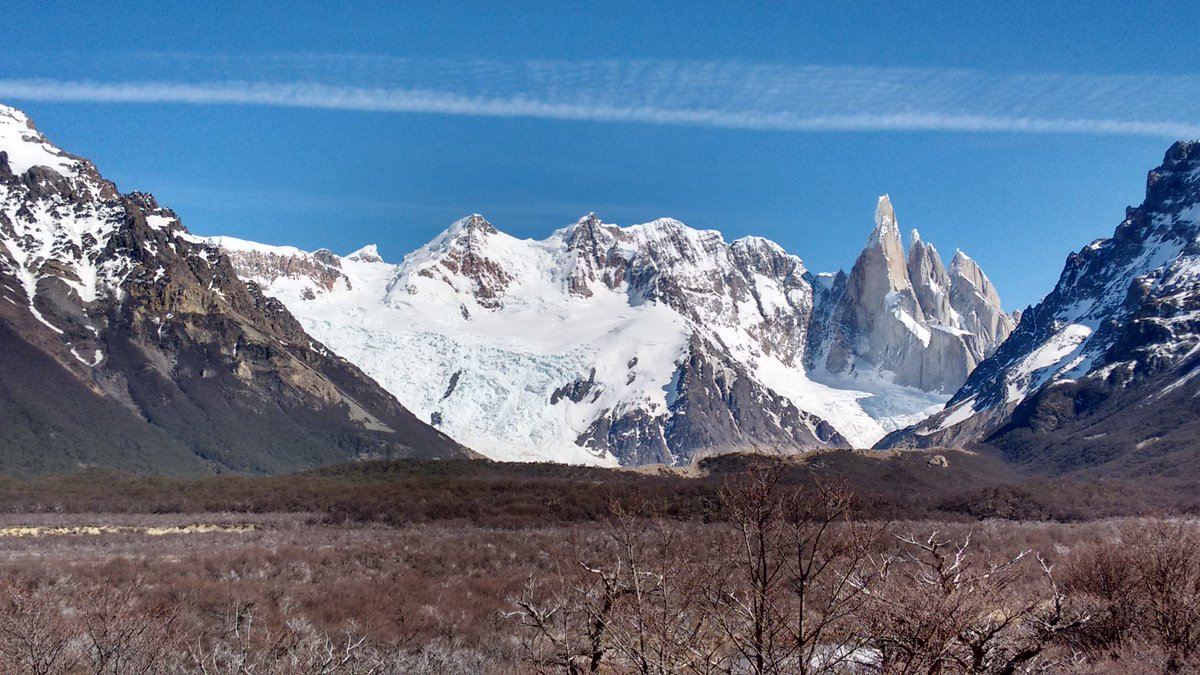 Mountain Fitz Roy & Laguna Torre Glacier at The End of the World