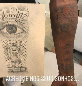 Vinícius Jr Vinícius Jr Posta Nova Tatuagem Mensagem