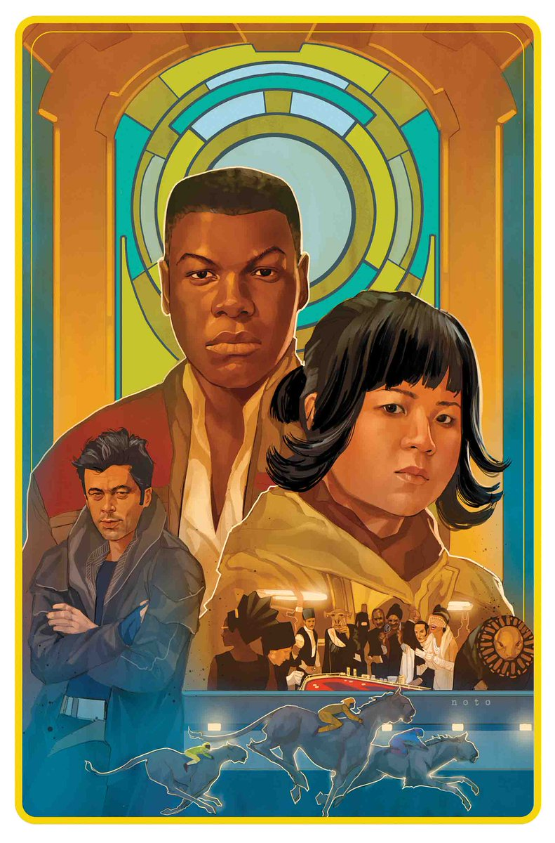 Just turned in the script last week so what a treat to see this beautiful @philnoto art for #TheLastJedi #3!