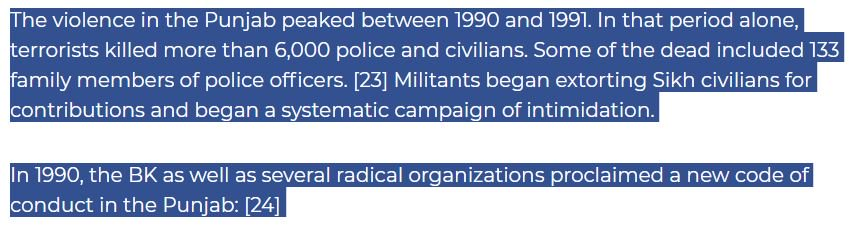 @sikhsforjustice @CBCNews Yes, they  'stand for justice. ' But when the militants had a chance, they butchered thousands of policemen, their families, teachers, newspaper boys... (Mackenzie Inst, 2001) https://t.co/A9MgPWgEjx