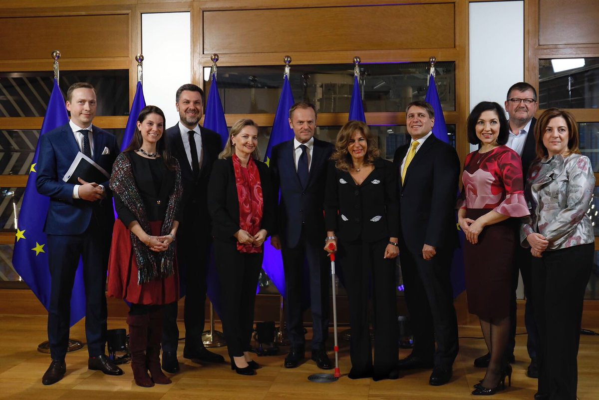 Meeting with our European social partners ahead of our Tripartite Social Summit tomorrow.