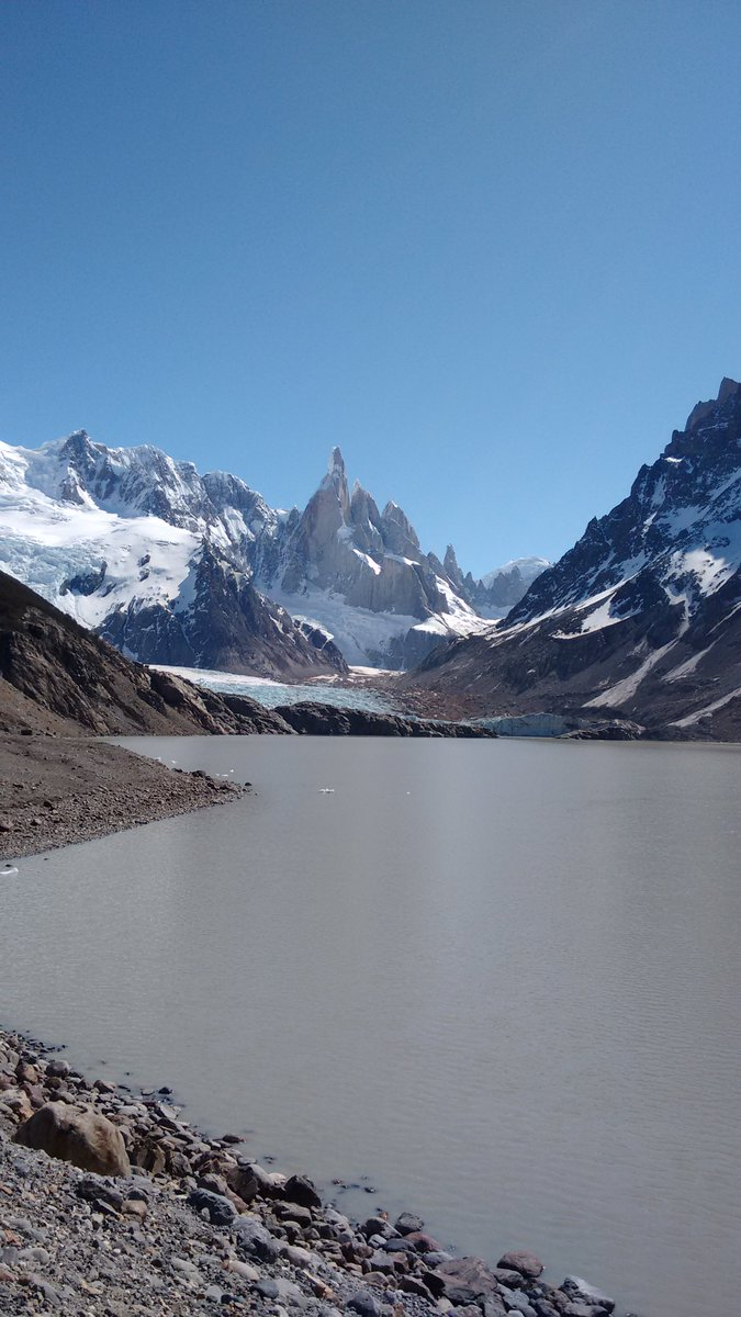 Mountain Torre & Laguna Torre Glacier at The End of the World