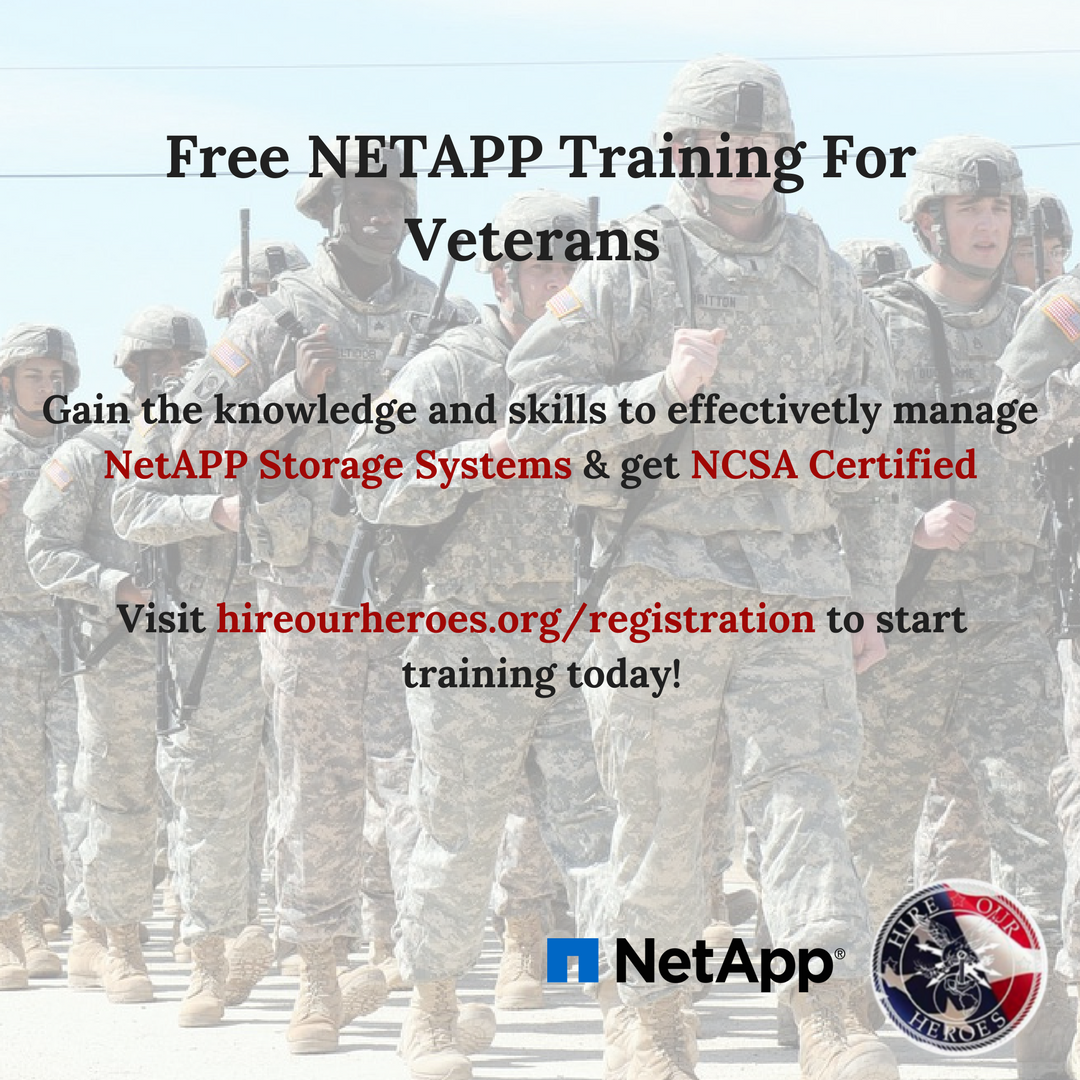 Hire Our Heroes Hoh On Twitter Netapp Offers Free Storage