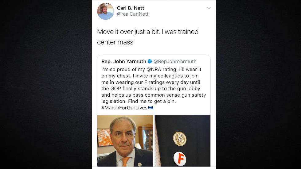 Kentucky GOP candidate tweeted that he'd like to use congressman as target practice https://t.co/Xk32NXUria https://t.co/6vxuGX88kn
