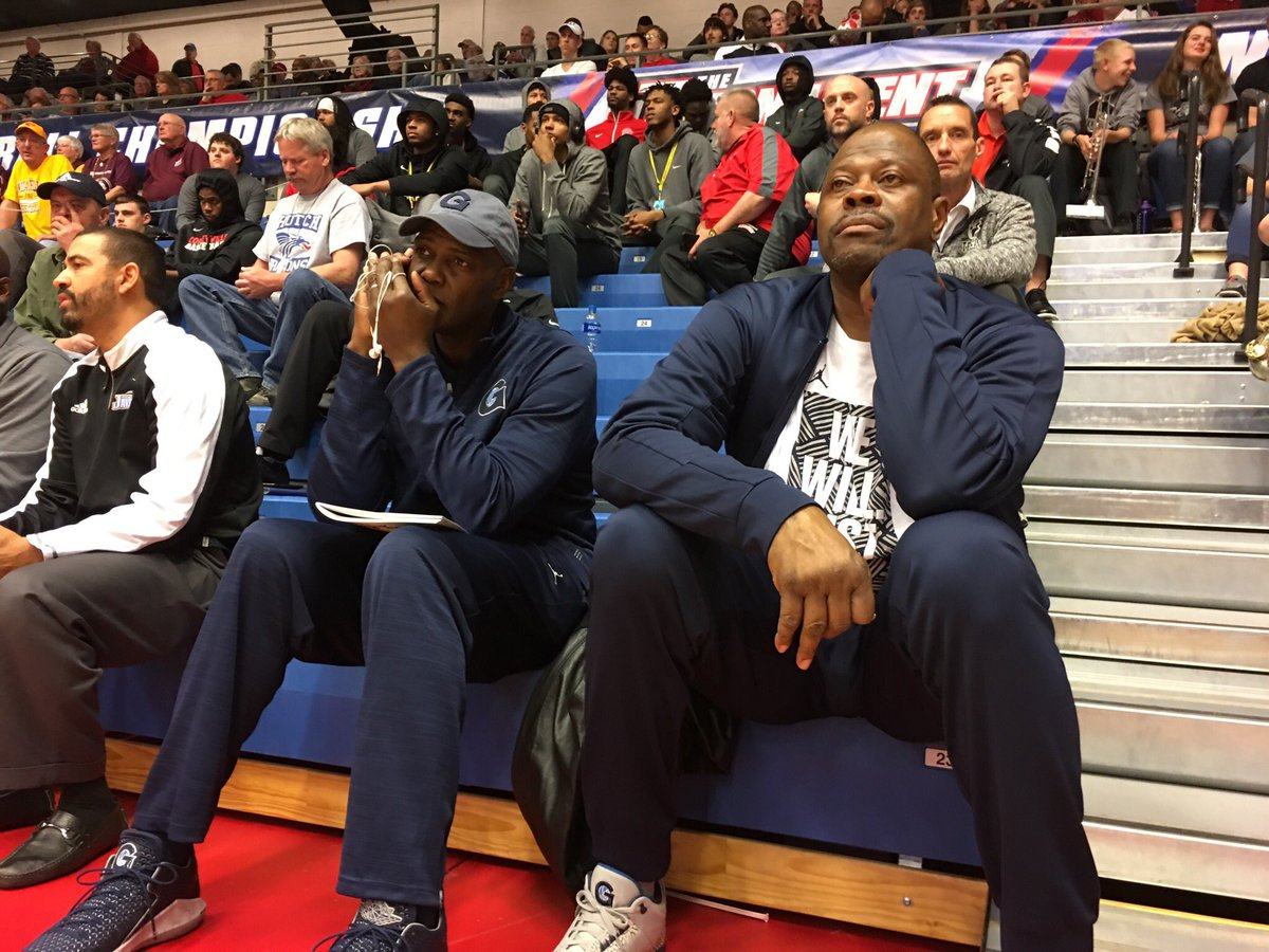 Hutchsports On Twitter Basketball Legend Patrick Ewing Is In The
