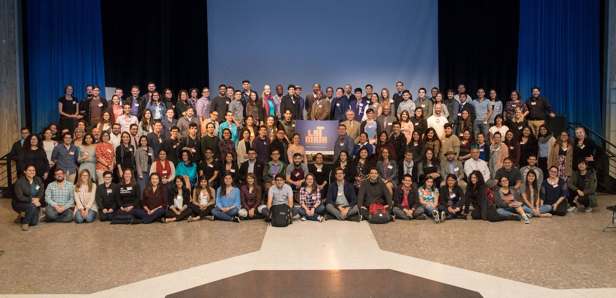 Photos from the Latinx in Math Conference are now up on IPAMs Facebook page! facebook.com/pg/ipam.ucla/p… #LATMATH #LAT2018