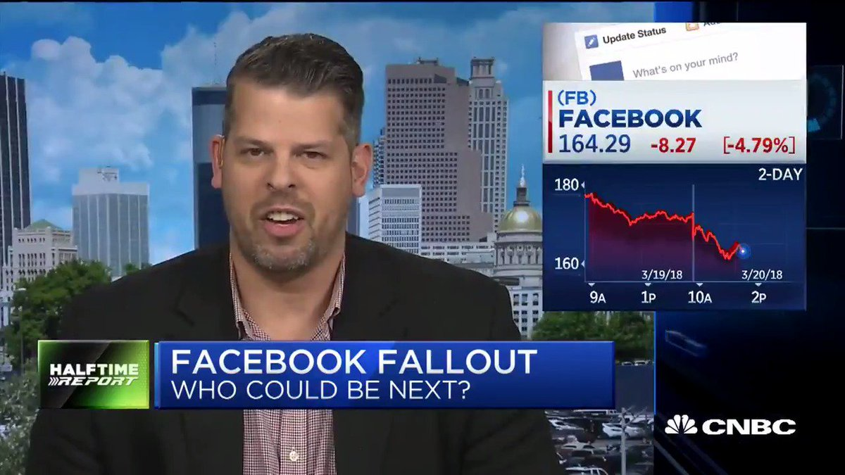 Facebook is the only data platform where somebody off the street can create an app and begin collecting users data themselves, says Converge CEO. cnb.cx/2FPmEZN