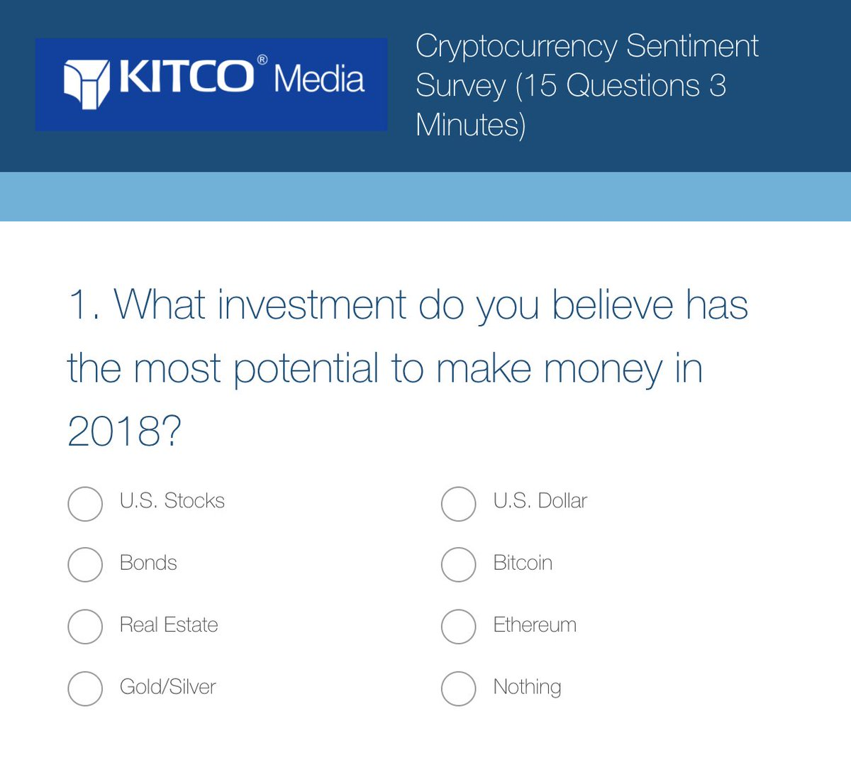 Don't Forget To Vote: #Gold, #Stocks, #Bonds, or #Cryptos? What investment has the most potential in 2018? | https://t.co/MTCTpK9My1