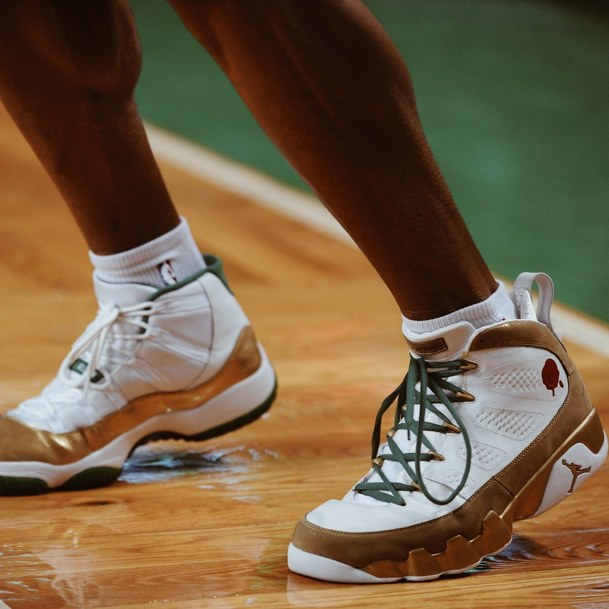 18eadba9461d1e ray allen wore mismatched air jordan ix and air jordan xi pes one of the  craziest