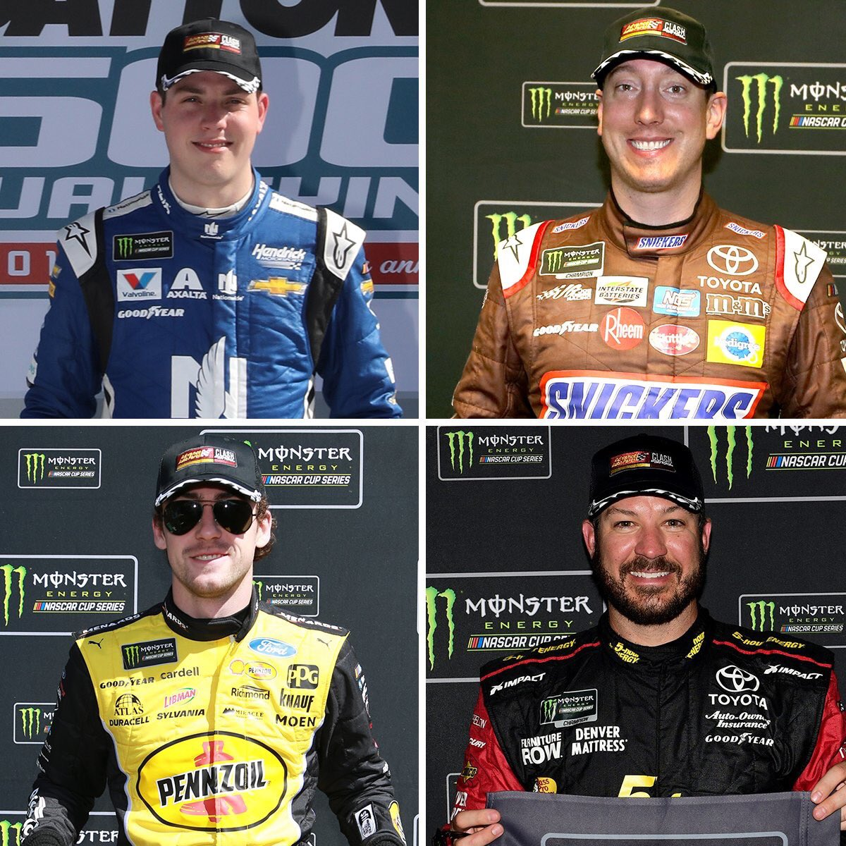 Four drivers have qualified for the the 2019 #AdvanceAutoClash so far this year with pole wins! Who will be added to the list next? #AdvanceOnTrack