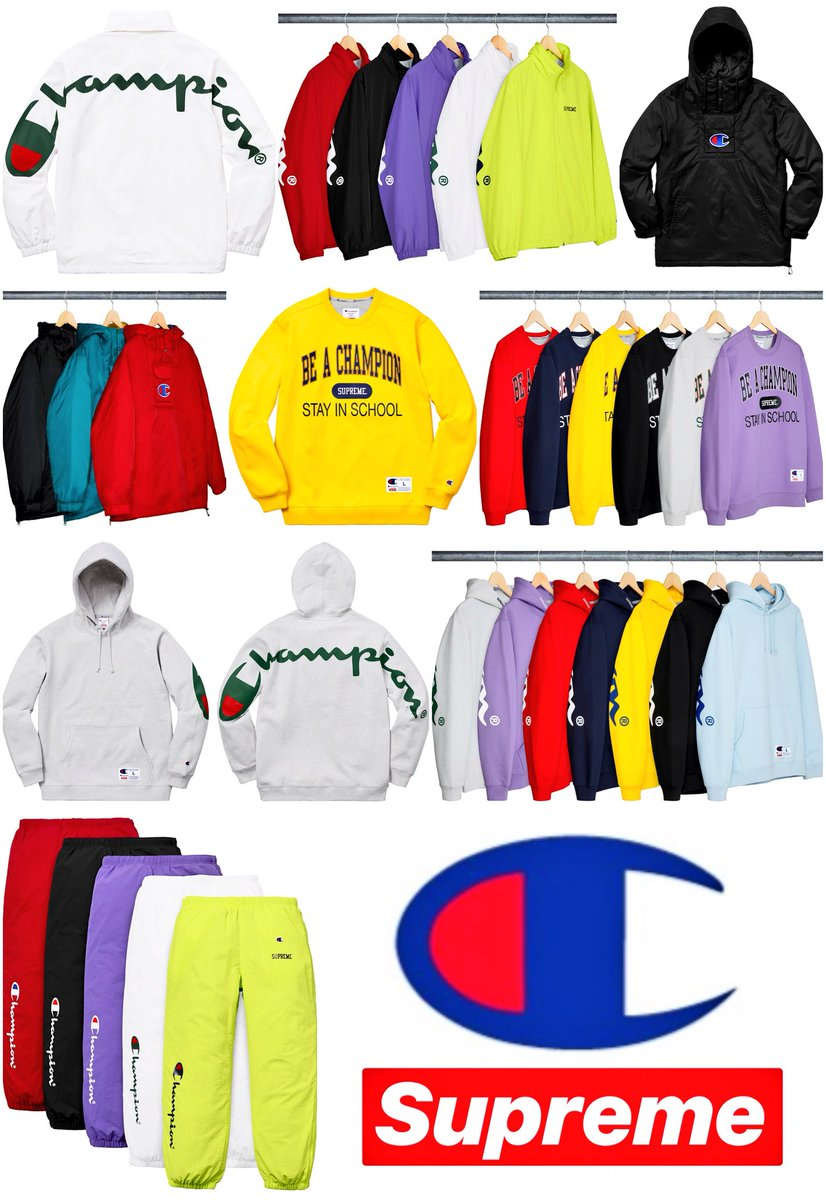 613b35dfb67c ... Supreme Week 5 No Hell Raiser Or Other Collab This Week The Only Track  Pants Dropping Are These Champion One's Will Update With Complete Drop List  ...