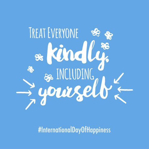 Kindness is the key to happiness! #InternationalDayOfHappiness