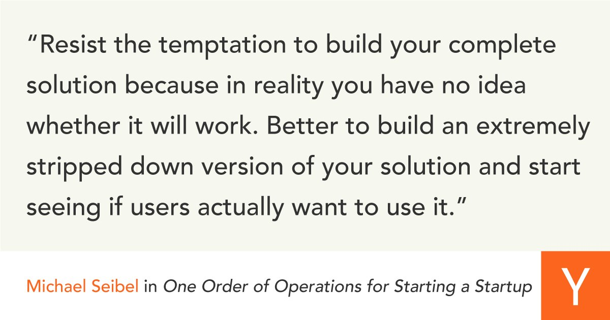Y Combinator's photo on Startups
