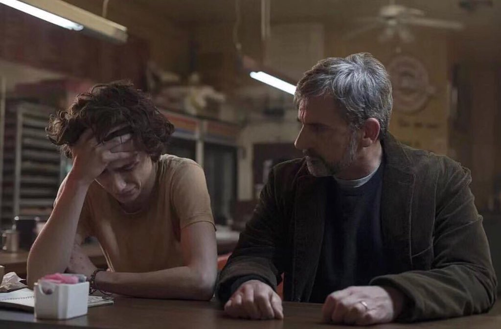 Timothée Chalamet et Steve Carell dans Beautiful boy