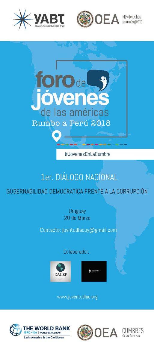 """Hoy se esta realizo el 1° Diálogo Nacional """"Gobernabilidad Democrática Frente a la Corrupción"""" Gracias @stefanyvcm por tu labor. @JuventudLAC"""