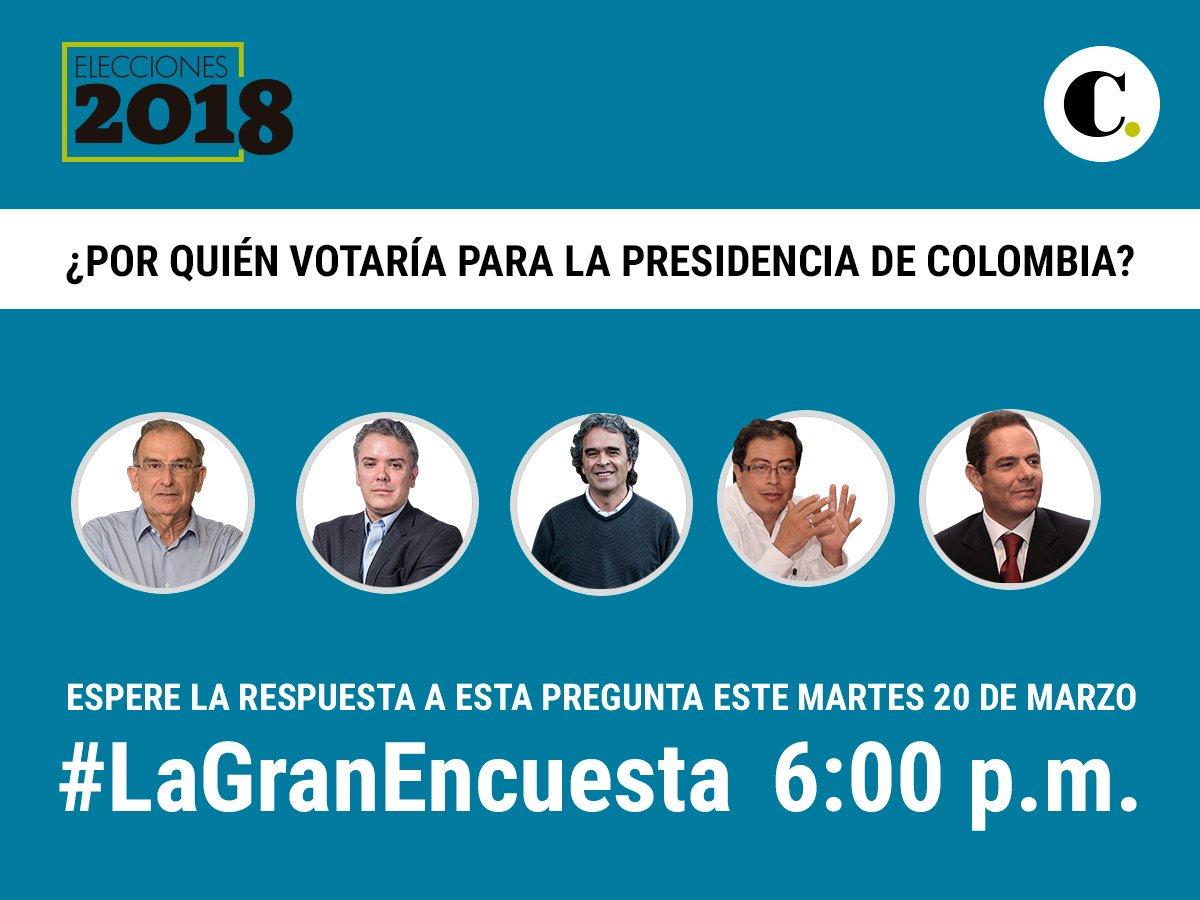 Espere los resultados iniciales de #LaGranEncuesta hoy a las 6 p.m.