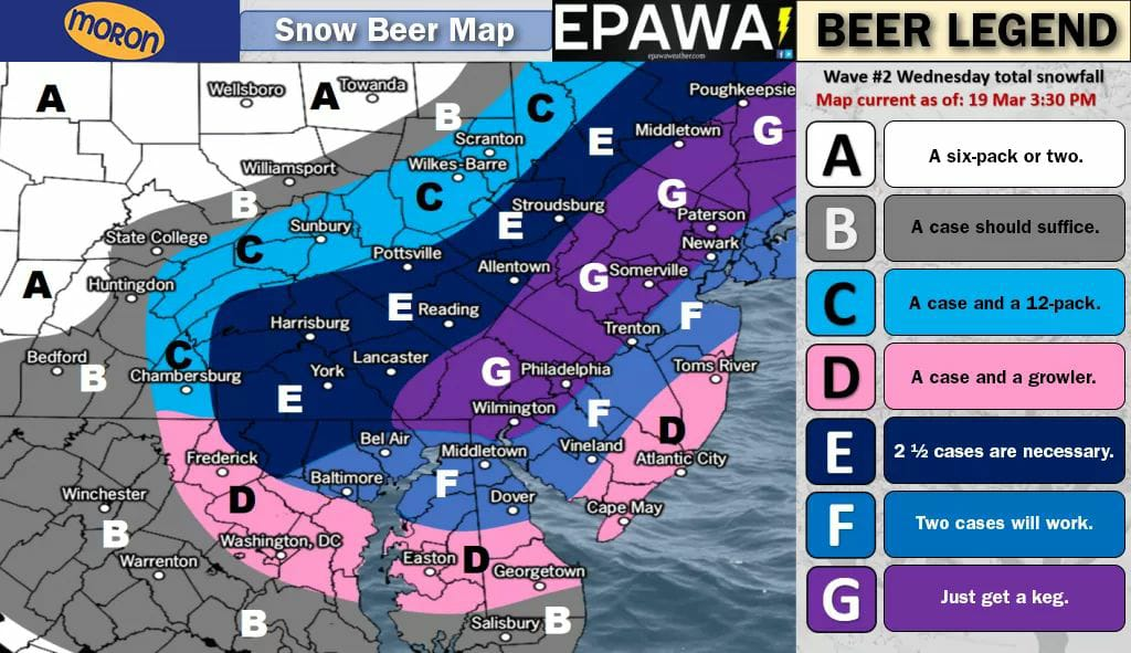 Very useful and accurate forecast map....