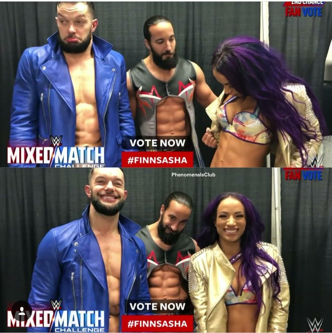 hmmmm...Kinda feel like my added Abs deserve a little credit here. Congratulations #FinnSasha on the 2nd chance. #WWEMMC  #WWE