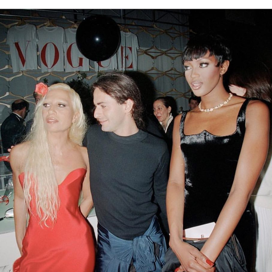 #TBT 1995. In the company of two extraordinary women!#thewaywewere #thewaywewore #donatellaversace @NaomiCampbell