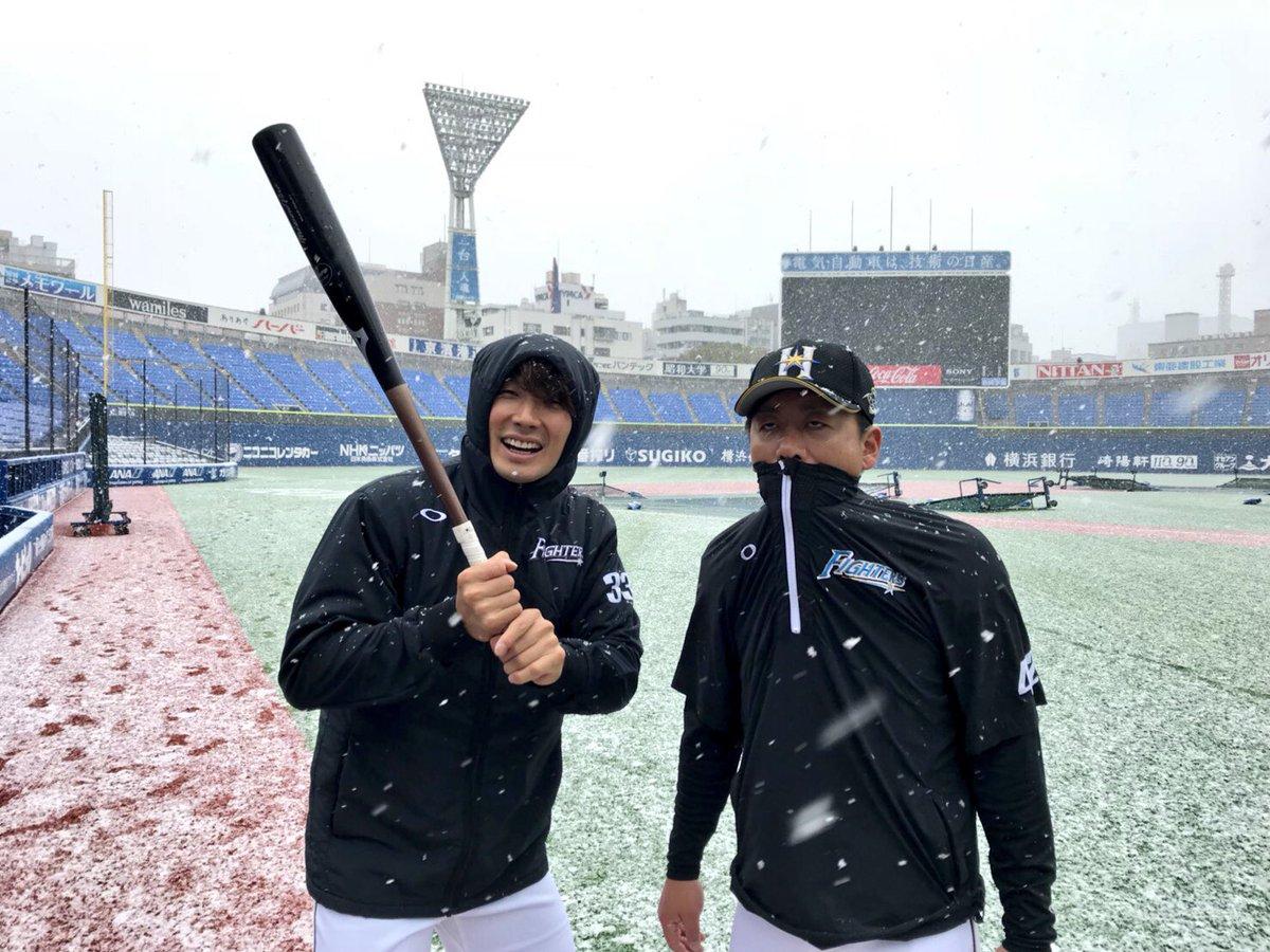 寒い…野球やりたいっす…❄️⛄️😵  #lovefighters #いちばん青い空にしよう
